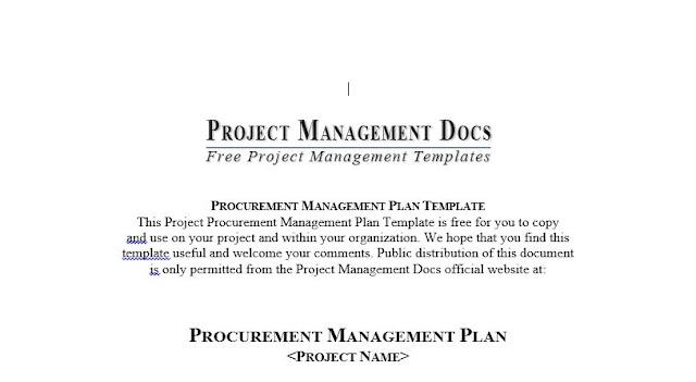 Procurement Management Plan Template - ENGINEERING MANAGEMENT