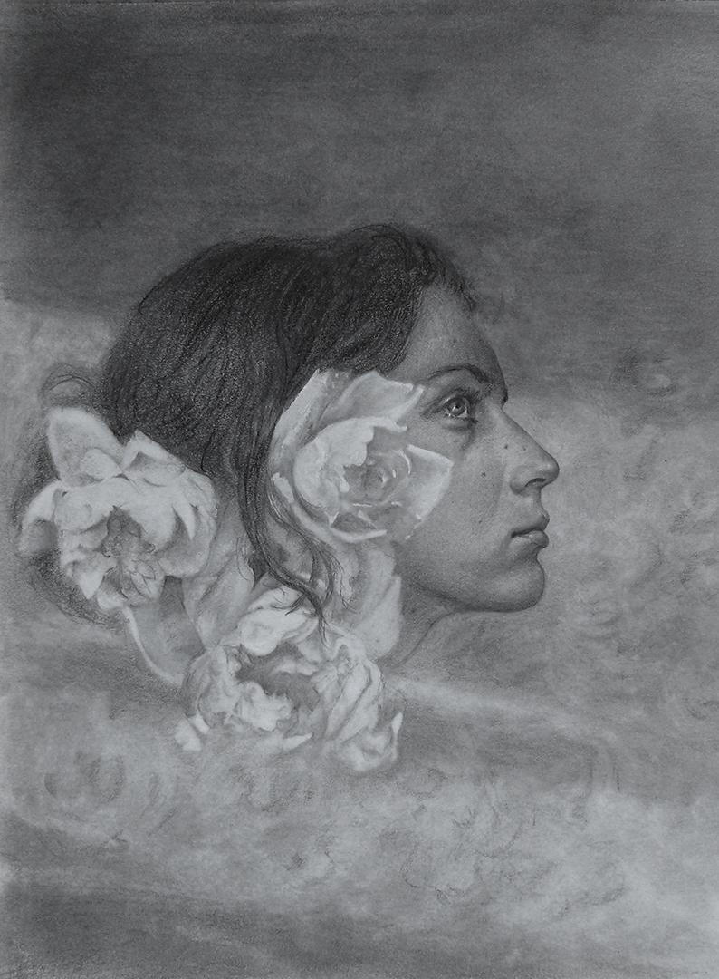 Iva K, Graphite portrait