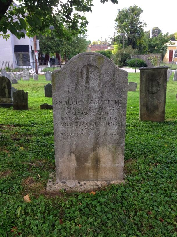 Tombstone of Anthony Jacob and Maria Elizabeth Henckel http://jollettetc.blogspot.com