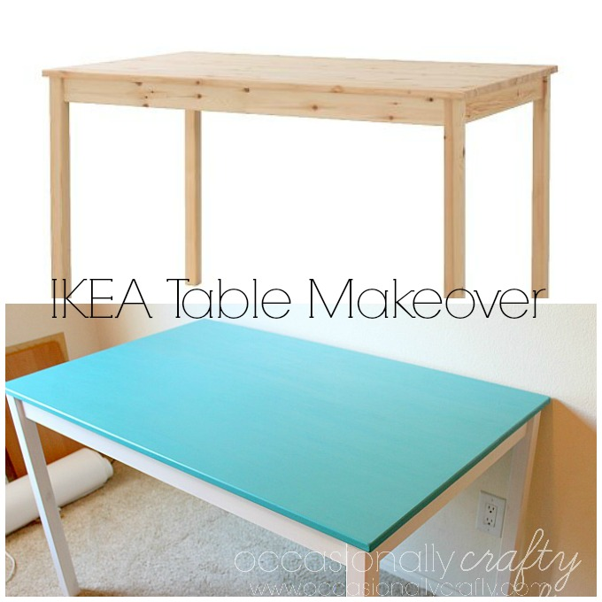 IKEA INGO Table Makeover for a craft room table!