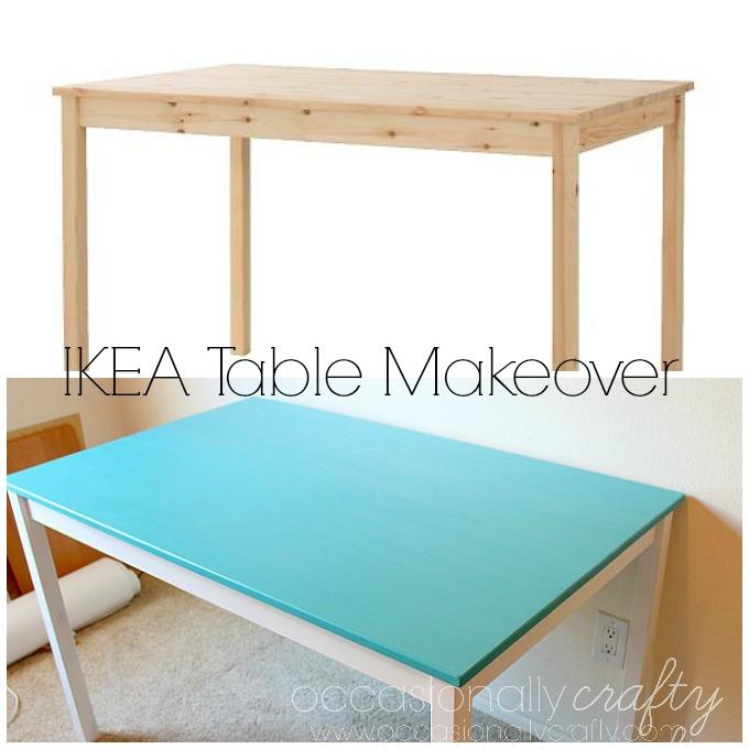 Ikea Ingo Table Makeover Occasionally Crafty Ikea Ingo Table Makeover