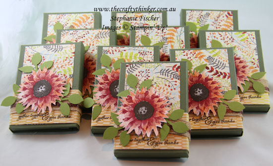 #cardmaking, #stampin up, Painted Harvest, Thanksgiving Table Favours, kitkat wrapper, #thecraftythinker, Stampin Up Australia Demonstrator, Stephanie Fischer, Sydney NSW