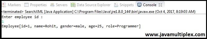 Java XML DOM Parser Output part 3