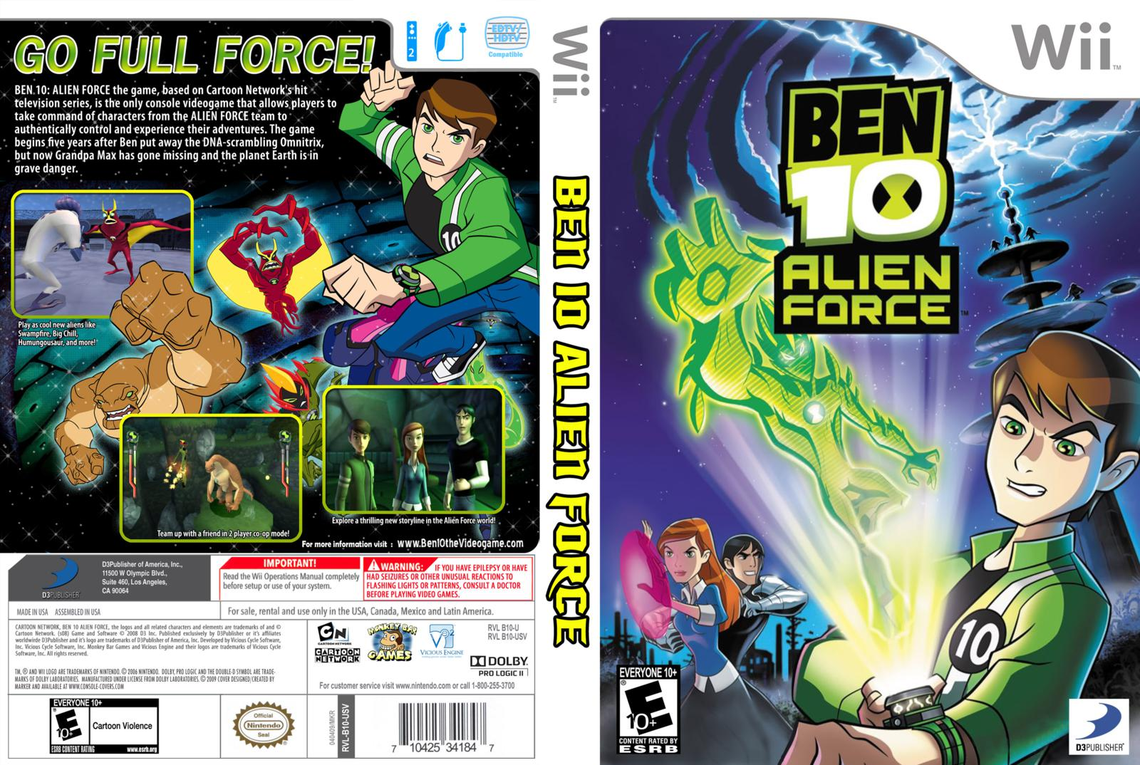Ben 10: Alien Force Cheats & Codes for Wii - CheatCodes.com