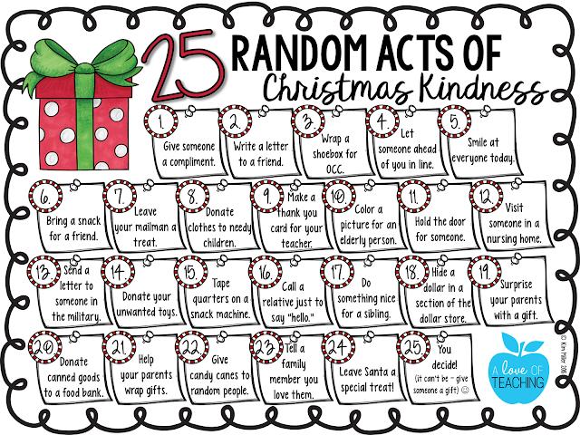 25 Random Acts of Christmas Kindness FREE CALENDAR