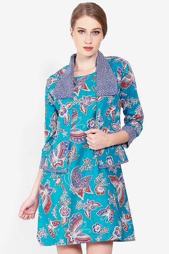Contoh Bolero Batik Untuk Kerja