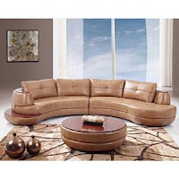 Global Furniture Bonded Leather Sectional Sofa Honey