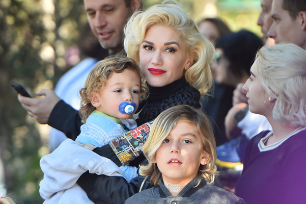 All for children's happiness: Gwen Stefani with her sons at Disneyland