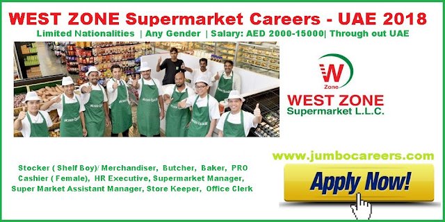 10th Pass jobs in Dubai Supermarkets | 10th Fail jobs in Dubai with Free visa and accommodation