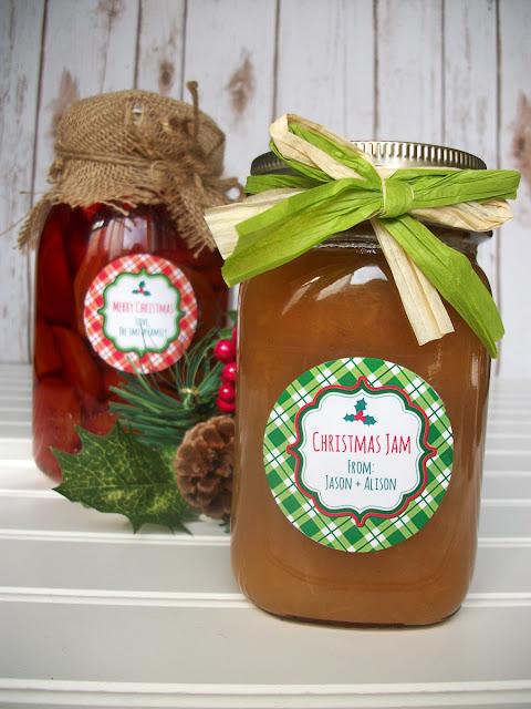 custom christmas canning jar labels