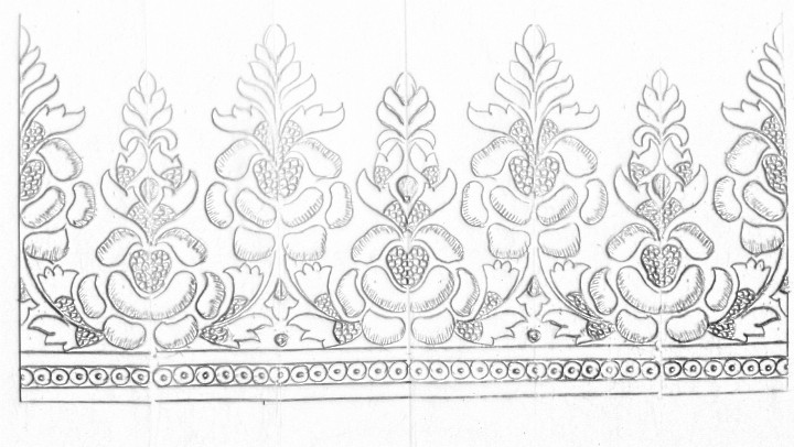 Machine Embroidery Saree Border Design Drawing How To