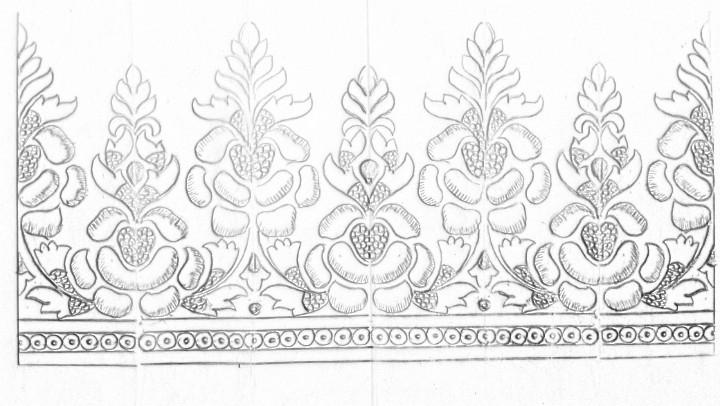 Machine Embroidery Saree Border Design Drawing How To Draw Saree