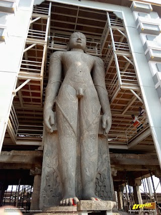 Bahubali the Gommateshwara monloith in Karkala, Udupi district, Karnataka, India