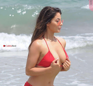 Jess Hayes in Red Bikini 2017  09 ~ Celebs.in Exclusive Celebrities Galleries