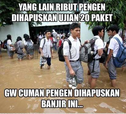 Kumpulan Dp Bbm Dan Meme Banjir Gokil Lucu Teraru