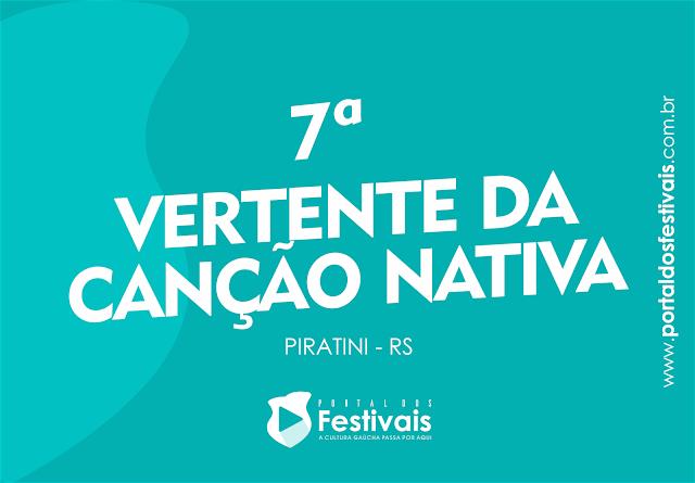 Abertas as inscrições para a 7ª Vertente da Canção Nativa de Piratini
