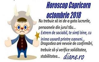 Horoscop Capricorn octombrie 2018