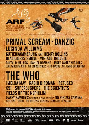 Azkena, Rock, Festival, 2016, Vitoria, Música