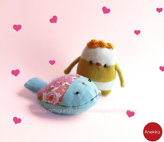 muñecos de punto y trapo anekka handmade