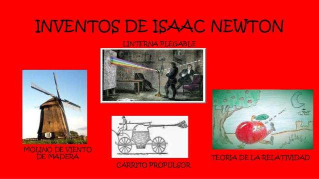 4 inventos de isaac newton