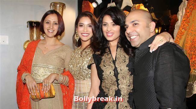 Ishita Arun, Rashmi Nigam, Anjjana Sukhani and Mayyur Girotra, Celebs at Opening of Mayyur Girotra Couture
