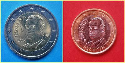 2 y 1 Euro España