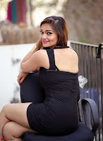 Actress and Model Ashwini in Beautiful Short Black Mini Dress ~  Exclusive 010.jpg