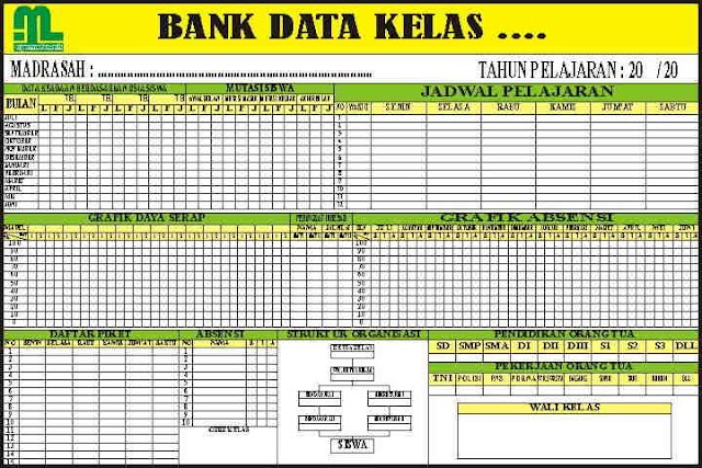 Download Papan Bank Data Kelas Format Corel Dan Photoshop