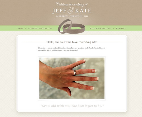 Wedding Site Template PSD