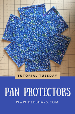 Homemade Fabric Pot and Pan Protectors Sewing Project