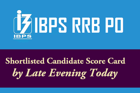 IBPS RRB PO Shortlisted Candidate Score Card by Late Evening Today