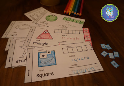 2D Shapes Flip Book Cut and Paste Activity