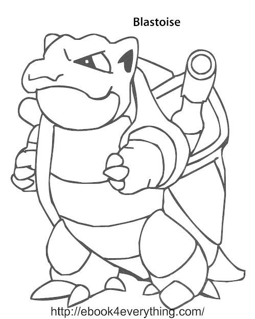 Blastoise Coloring Pages Pinterest Within Pokemon Coloring Pages Mega  Blastoise
