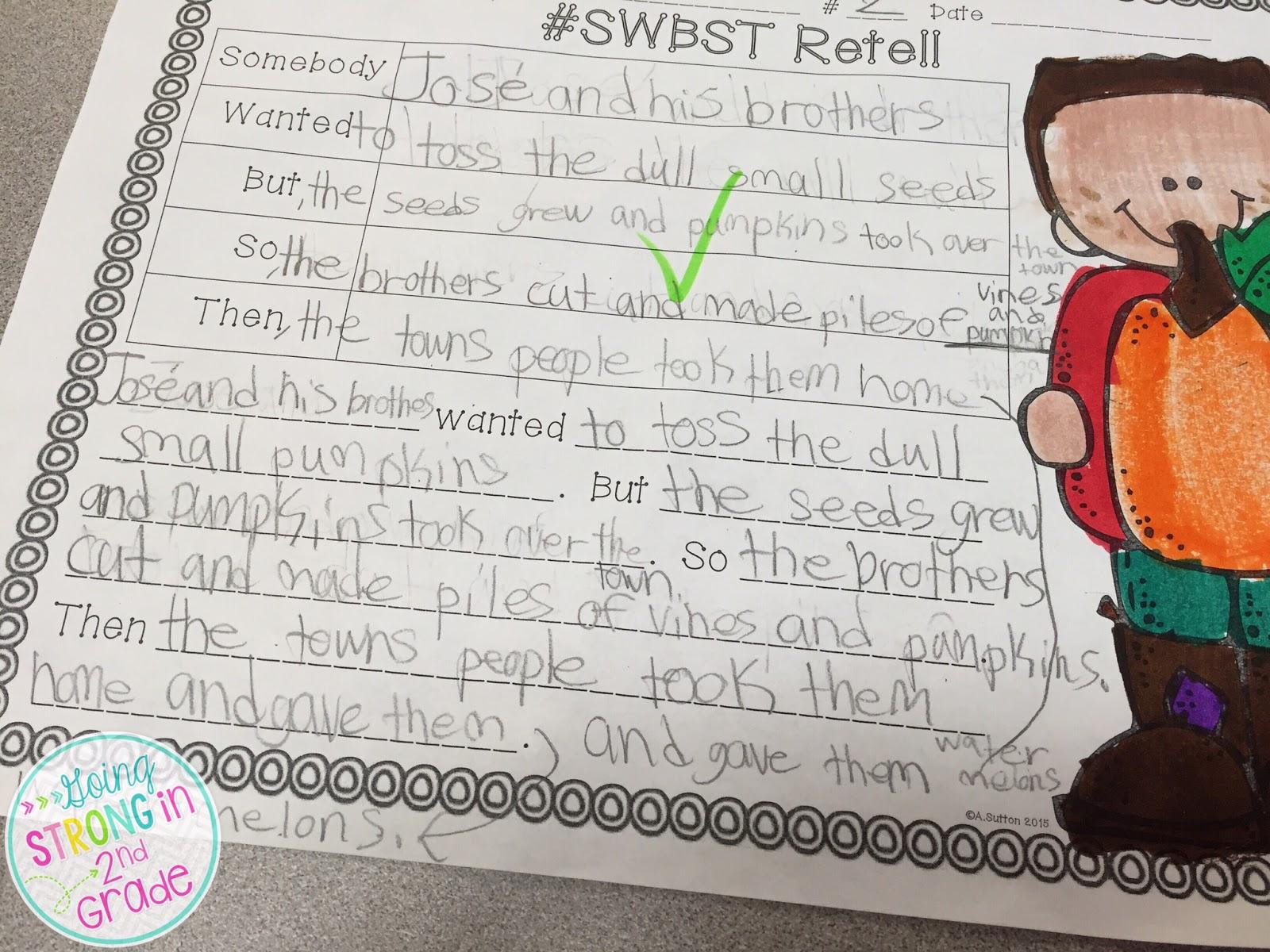 Going Strong In 2nd Grade Pumpkin Week