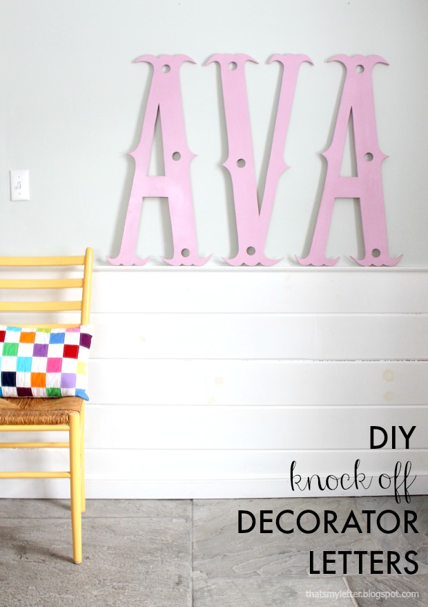 diy knock off decorator letters