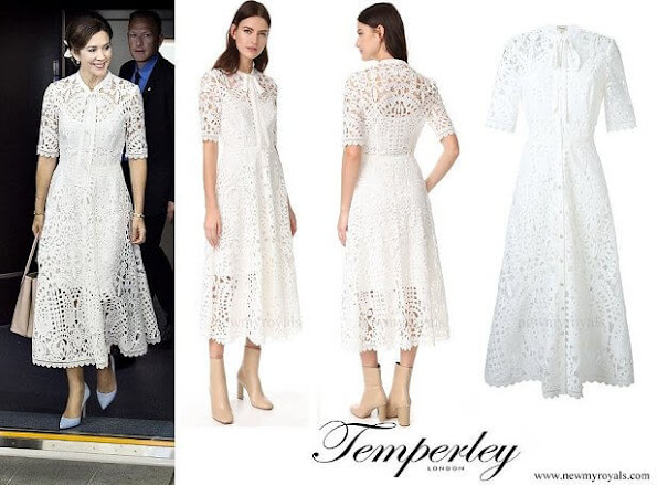 Princess Mary wore Temperley London white lace dress