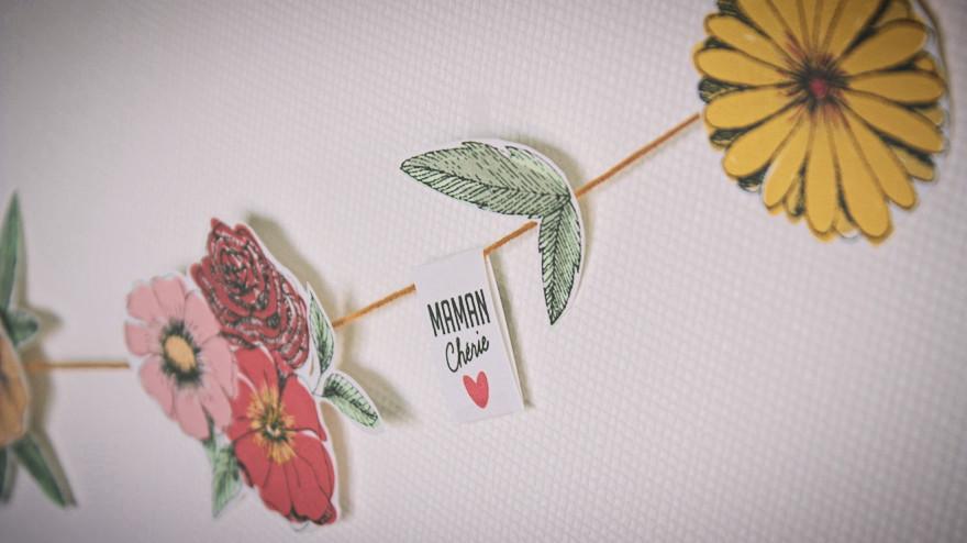 DIY papier guirlande fleurie fête des mères marauda verbo