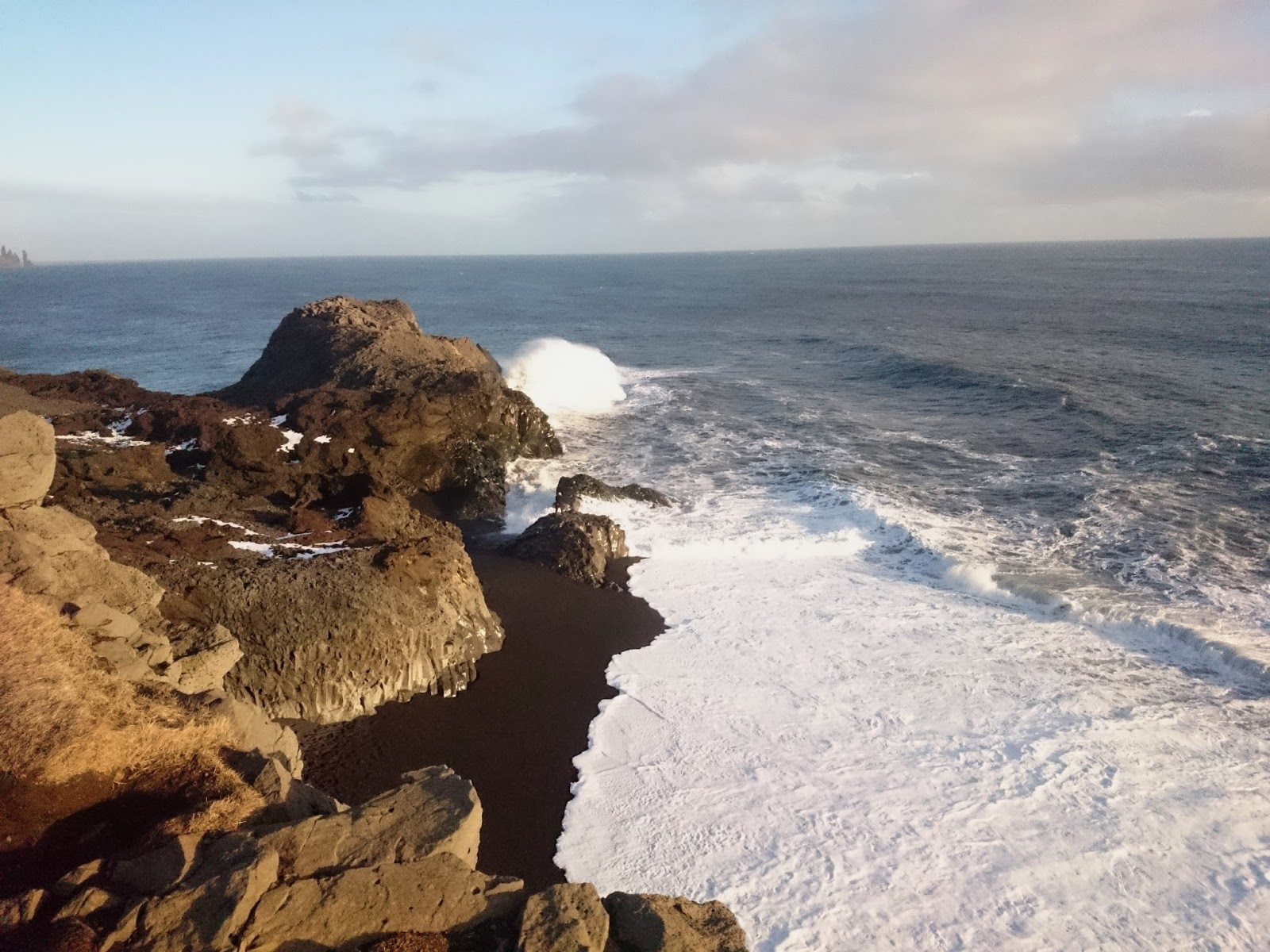 fale, ocean, Dyrholaey, Islandia, panidorcia, blog o Islandii