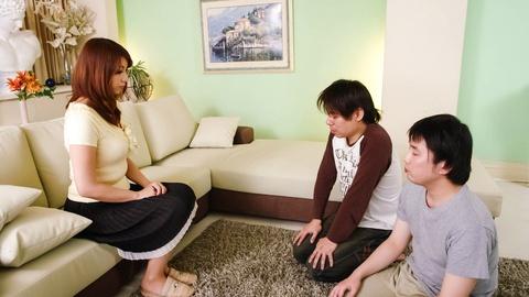 Busty MILF Hitomi Araki Creampied In A Threesome