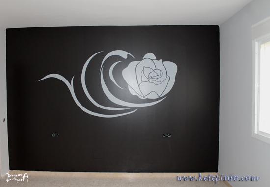 Decoración en negro y gris para un dormitorio