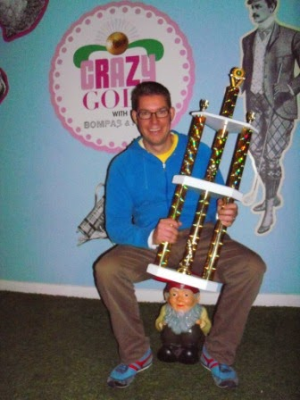 Richard Gottfried - winner of the Crazy Golf with Bompas & Parr Championship in 2012