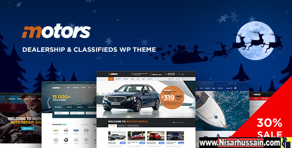 Motors Automotive, Car Dealership, Car Rental, Vehicle, Bikes, Classified Listing Premium WordPress Theme