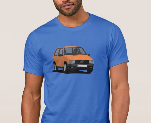 Fiat Uno (Type 146) T-shirt orange
