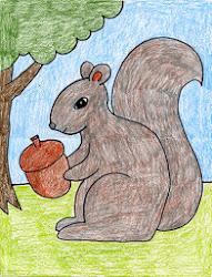 squirrel draw drawing tutorial projects simple easy hard grade artprojectsforkids drawings project fall kid children nice paperblog way autumn getdrawings