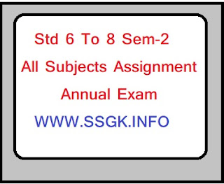 Std 6 To 8 Sem-2 All Subjects Assignment Annual Exam