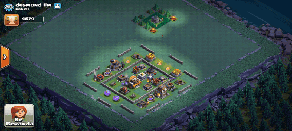 Layout Aula Tukang COC Level 5 Terkuat Top Player