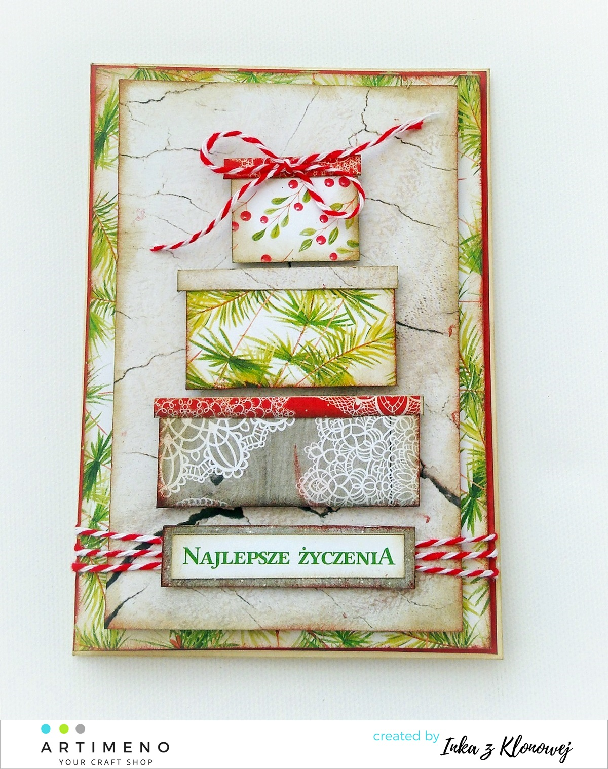 Kartki wg mapki świątecznej – miniwyzwanie