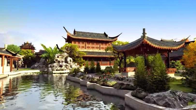 O tema louco chinês Parque Austrália