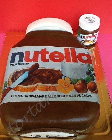 TORTA RITORTA: TORTA BARATTOLO NUTELLA IN PDZ