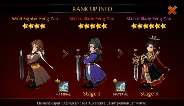 Rank Up Hero dengan Element Feng Yan